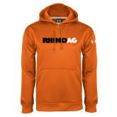 Under Armour Orange Performance Sweats Team Hoodie-Wordmark