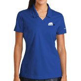 Ladies Nike Golf Dri Fit Royal Micro Pique Polo-Primary Mark