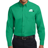 Kelly Green Twill Button Down Long Sleeve-Primary Mark