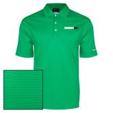 Nike Dri Fit Vibrant Green Pebble Texture Sport Shirt-Wordmark