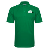 Kelly Green Textured Saddle Shoulder Polo-Primary Mark