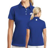 Ladies Nike Dri Fit Royal Pebble Texture Sport Shirt-Primary Mark