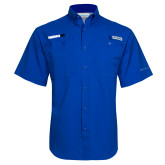 Columbia Tamiami Performance Royal Short Sleeve Shirt-Wordmark