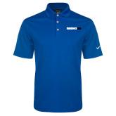 Nike Golf Dri Fit Royal Micro Pique Polo-Wordmark