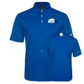 Nike Golf Dri Fit Royal Micro Pique Polo-Primary Mark