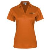 Ladies Orange Performance Fine Jacquard Polo-Wordmark