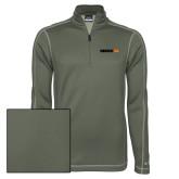Nike Sphere Dry 1/4 Zip Olive Khaki Pullover-Wordmark