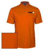 Orange Performance Fine Jacquard Polo-Wordmark