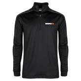 Nike Golf Dri Fit 1/2 Zip Black/Grey Pullover-Wordmark
