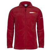 Columbia Full Zip Cardinal Fleece Jacket-Wordmark