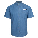 Denim Shirt Short Sleeve-Wordmark
