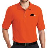 Orange Easycare Pique Polo-Primary Mark