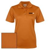 Ladies Orange Dry Mesh Polo-Wordmark