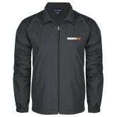 Full Zip Charcoal Wind Jacket-Wordmark