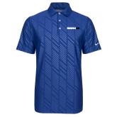 Nike Dri Fit Royal Embossed Polo-Wordmark