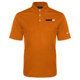 Nike Golf Dri Fit Orange Micro Pique Polo-Wordmark