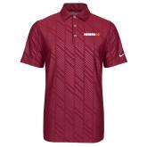 Nike Dri Fit Cardinal Embossed Polo-Wordmark