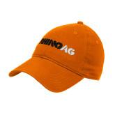 Orange Twill Unstructured Low Profile Hat-Wordmark