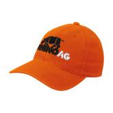 Orange Flexfit Mid Profile Hat-Primary Mark