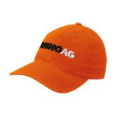 Orange Flexfit Mid Profile Hat-Wordmark
