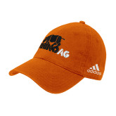 Adidas Orange Slouch Unstructured Low Profile Hat-Primary Mark