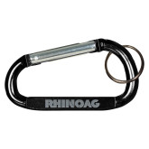 Black Carabiner with Split Ring-Wordmark  Engraved