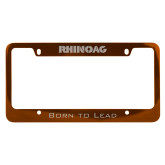 Metal Orange License Plate Frame-RHINOAG