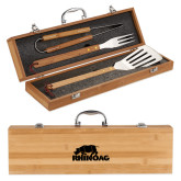 Grill Master 3pc Bamboo BBQ Set-Primary Mark  Engraved