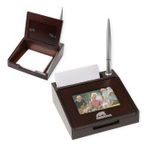 Photo Notepad Holder w/Pen-Primary Mark  Engraved