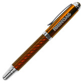 Carbon Fiber Orange Rollerball Pen-Wordmark  Engraved