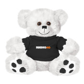 Plush Big Paw 8 1/2 inch White Bear w/Black Shirt-Wordmark