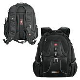 Wenger Swiss Army Mega Black Compu Backpack-Wordmark