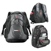 Wenger Swiss Army Tech Charcoal Compu Backpack-Wordmark