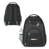 The Ultimate Black Computer Backpack-Wordmark