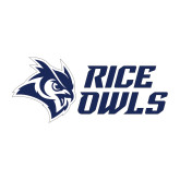 Medium Decal-Rice Owls Stacked, 8 inches wide