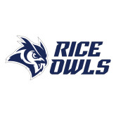 Large Decal-Rice Owls Stacked, 12 inches wide