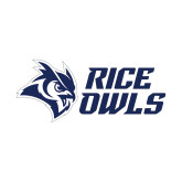Small Decal-Rice Owls Stacked, 6 inches wide