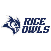 Extra Large Decal-Rice Owls Stacked, 18 inches wide