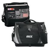 Slope Black/Grey Compu Messenger Bag-Rice