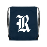 Navy Drawstring Backpack-R