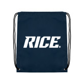 Navy Drawstring Backpack-Rice