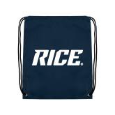 Navy Drawstring Backpack-Rice