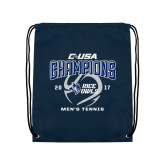 Navy Drawstring Backpack-Conference USA Mens Tennis Champions