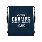 Navy Drawstring Backpack-Conference USA Womens Tennis Champions