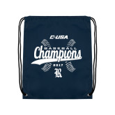 Nylon Navy Drawstring Backpack-Conference USA Baseball Champions