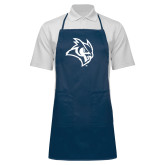Full Length Navy Apron-Owl Head