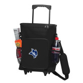 30 Can Black Rolling Cooler Bag-Owl Head