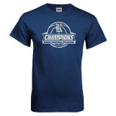 Navy T Shirt-Womens Basketball Invitational Champions Ball