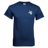 Navy T Shirt-Owl Head