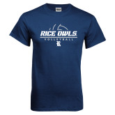 Navy T Shirt-Volleyball